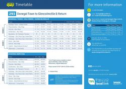 Updated Local Link Time Tables for 2021
