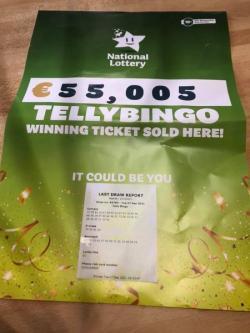 €55k Telly Bingo ticket sold in Carrick!